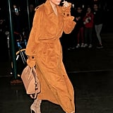Give a Suede Trench Coat a Try