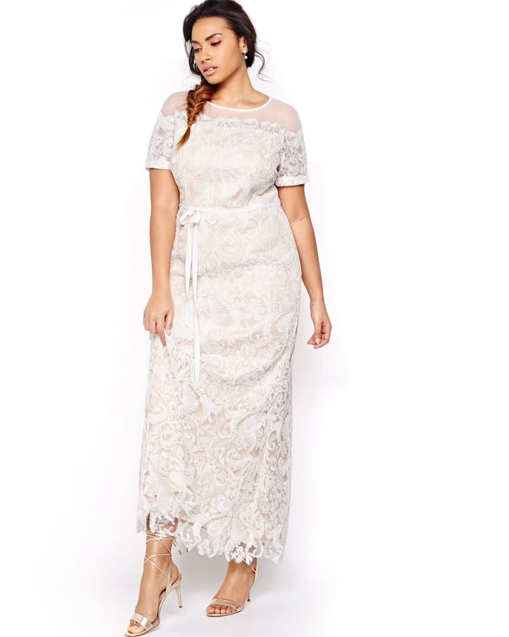 Addition Elle's Contrast Lace Wedding Dress ($380) Is