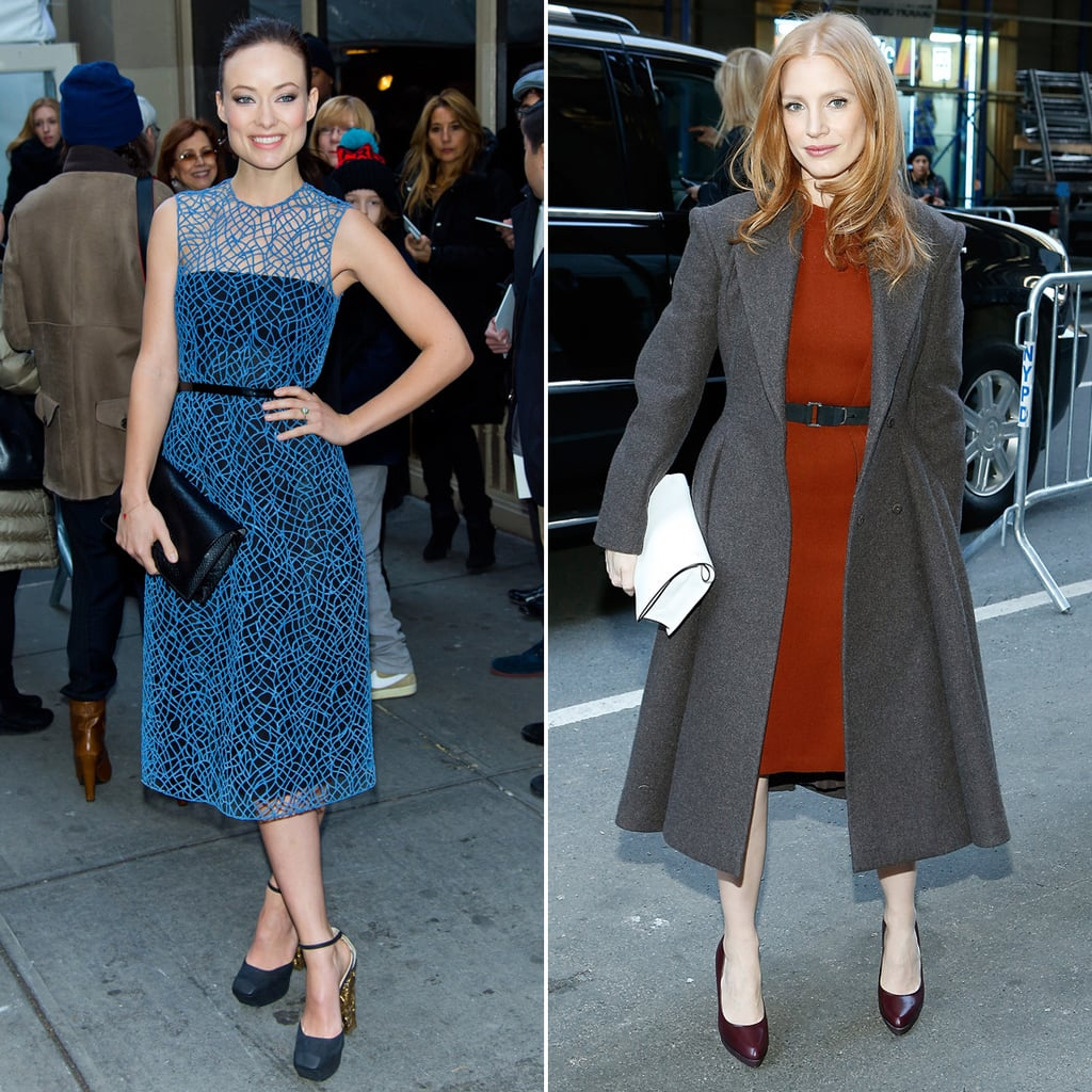 Olivia Wilde & Jessica Chastain: Celebs Front-Row At NYFW