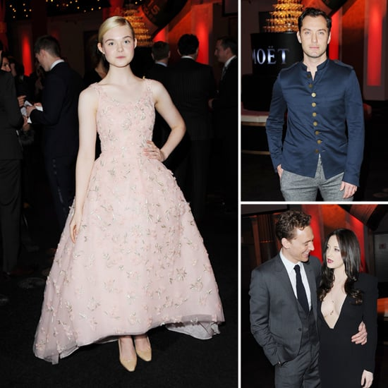 Elle Fanning Goes Pink to Watch Jude Law Win at the BIFAs