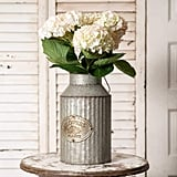 Vintage Industrial Farmhouse Chic Flower Can