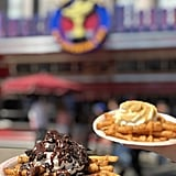 Here are Disneyland's new cookies and cream funnel cake fries and pumpkin spice funnel cake fries.
