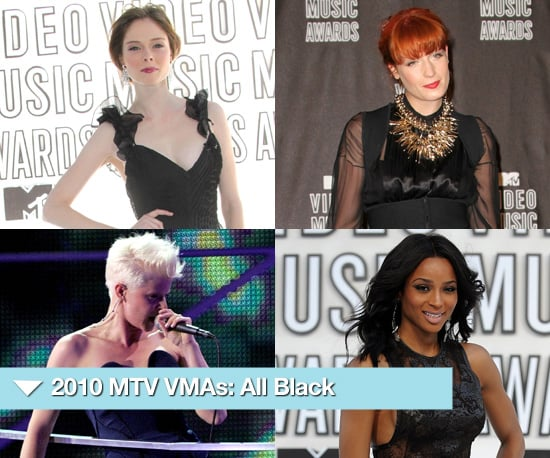Photos of Celebrities in Black Outfits and Dresses at 2010 MTV Video Music Awards