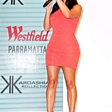 Kim shared her selfie tips during an appearance at Westfield Parramatta in Sydney in Sept. 2014.