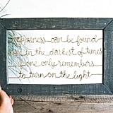 Framed Wired Harry Potter Quote ($58)