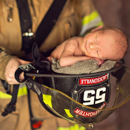 Newborn Photos With Firefighter Mom and Police Officer Dad