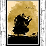 Howl's Moving Castle Hayao Miyazaki Minimalist Movie Poster ($20)