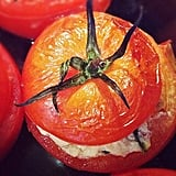 Appetizer: Vegan Goat Cheese-Stuffed Oven-Roasted Tomatoes