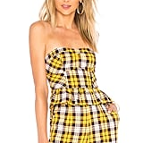 Lovers + Friends Livy Crop Top in Yellow Plaid