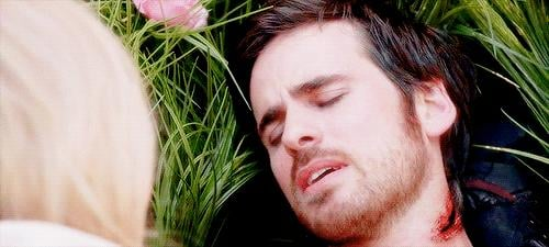 They almost succeed, until Hook is cut with Excalibur and Emma makes the ultimate price.