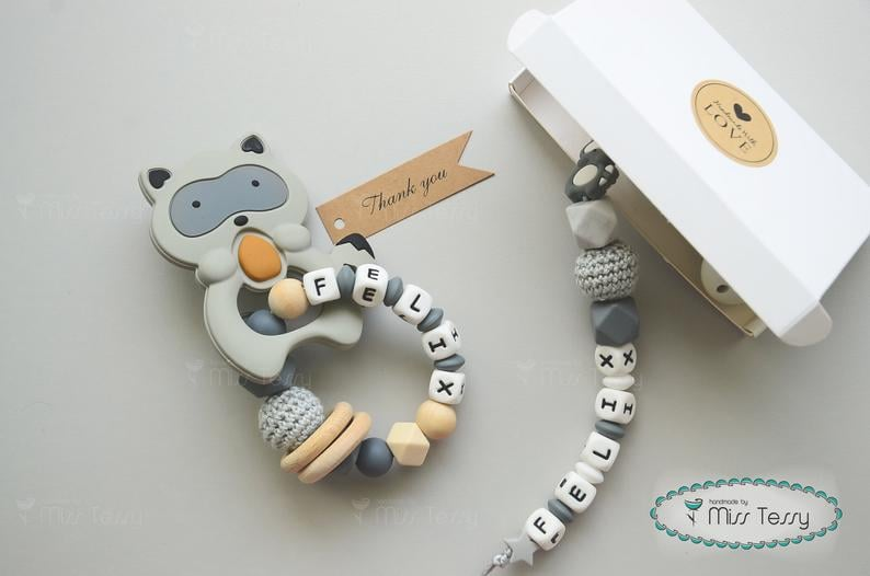 Racoon Baby Shower Gift Set