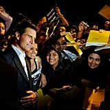 Tom Cruise was a fan favorite in Dubai.