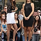 Nina Dobrev and Maria Menounos both sported black pumps.
