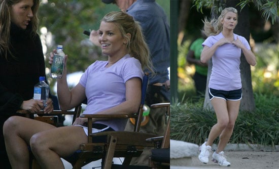 Jessica Simpson Celebrates Run @ Work Day