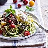Zucchini Pasta With Cherry Tomato Basil Sauce