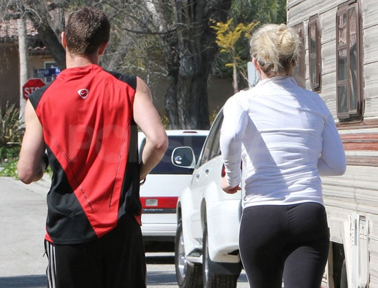 Guess Who's in Tight Pants and Working Out With Her Trainer?