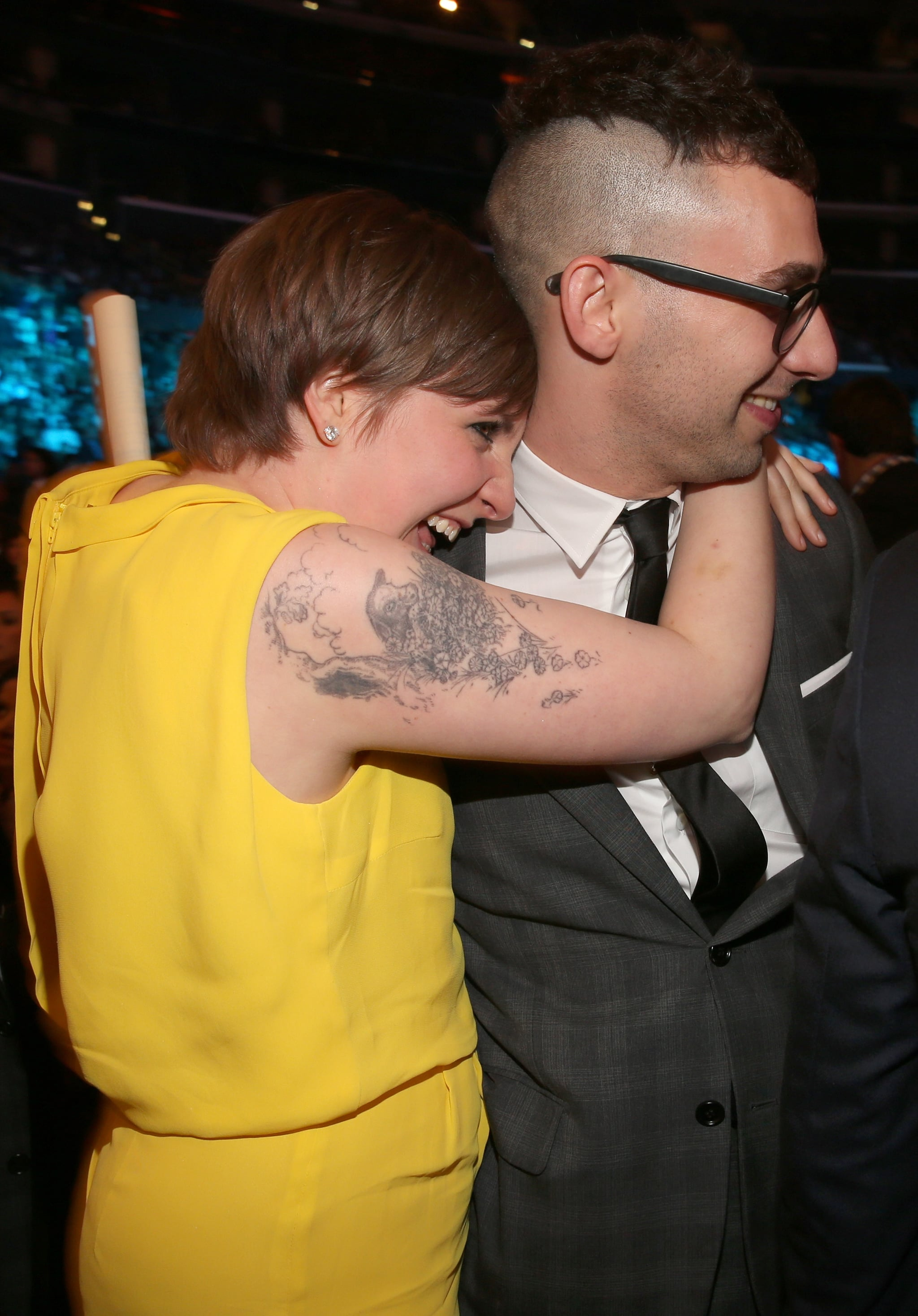 Lena Dunham celebrated fun.'s win with boyfriend Jack Antonoff.
