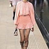 Puffy Sleeves on the Longchamp Runway at New York Fashion Week