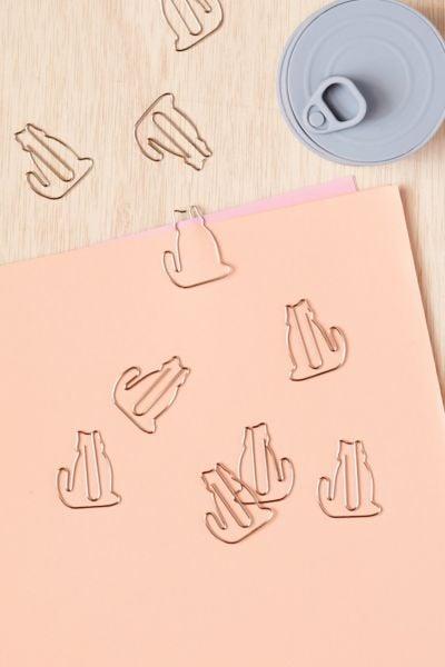 Cat paper clip set