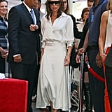 Victoria Beckham White Outfit at Eva Longoria Star Ceremony