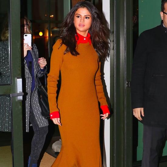 Selena Gomez Victoria Beckham Dress in New York Feb. 2017