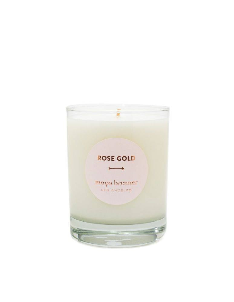 Maya Brenner Rose Gold Candle ($48)