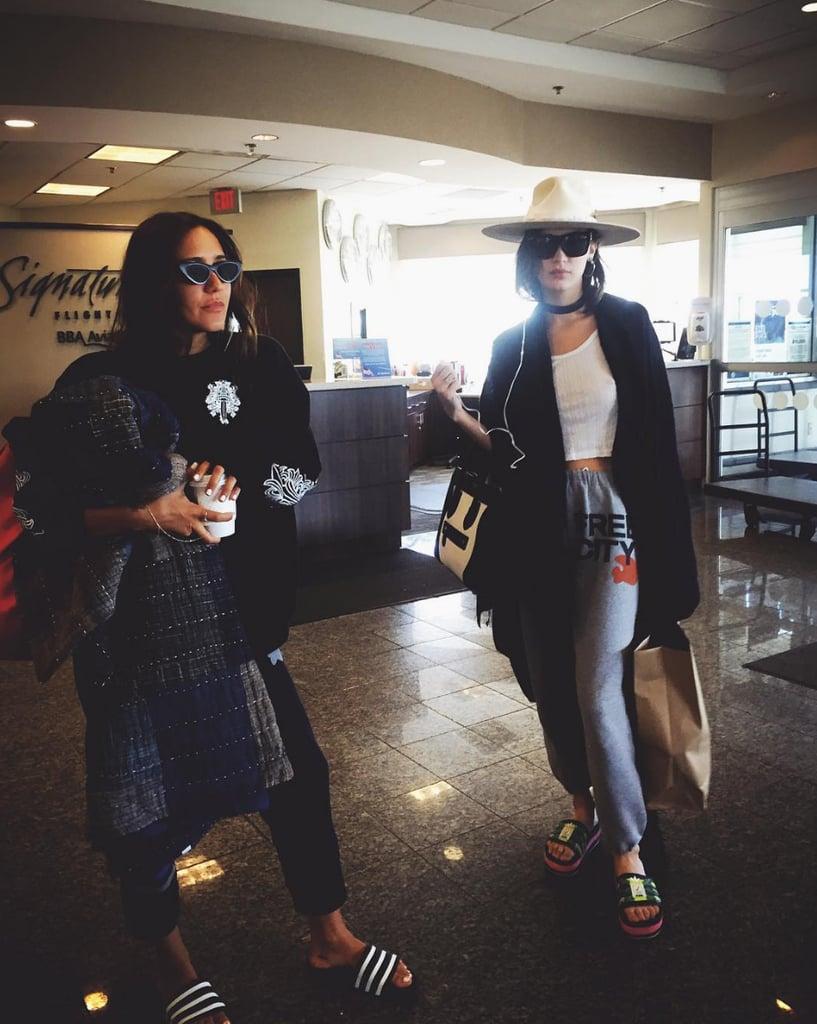 Bella Hadid's Airport Style Instagram