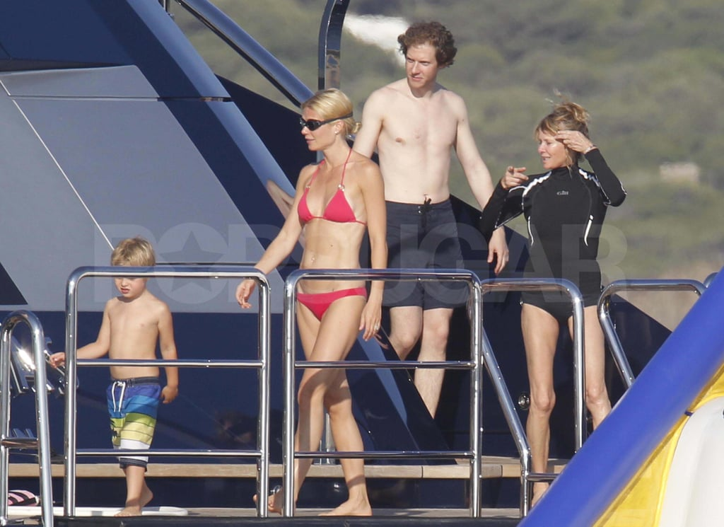 Gwyneth Paltrow and her brother on a yacht.