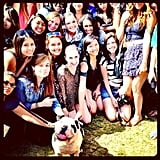 Joe Jonas's dog, Winston, posed with his adoring fans.  Source: Instagram user adamjosephj