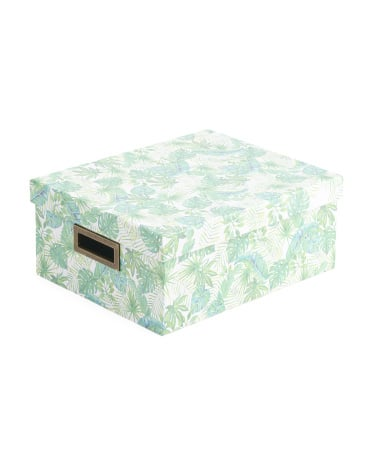 Medium Palm Paper Storage Box ($8)