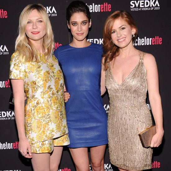 Kirsten Dunst, Isla Fisher & Lizzy Caplan At The NYC Premiere Of Bachelorette