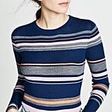 FRAME Panel Stripe Crew Sweater