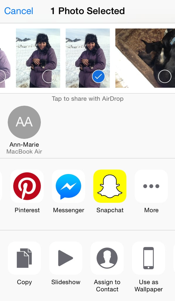How To Send Photos From Camera Roll On Snapchat  Popsugar