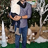 Honor adorably clung to her dad when they arrived at a Winter Wonderland event in Beverly Hills, CA, in November 2011.