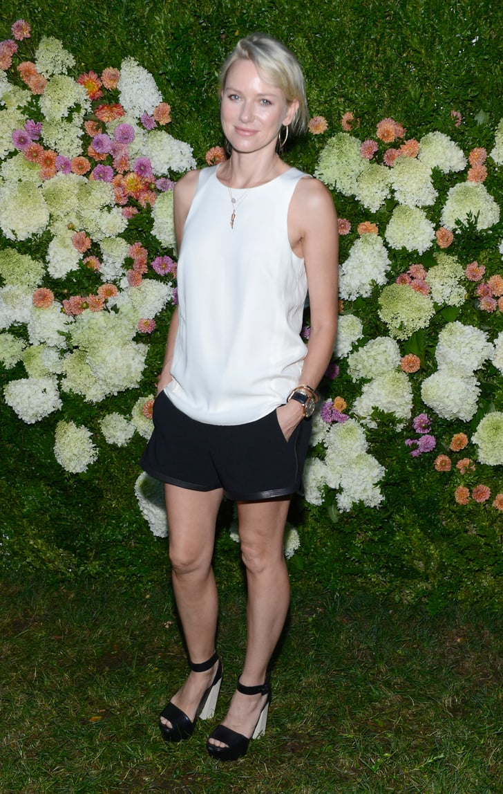 Naomi Watts Was Casual And Cool In A White Tank And Black