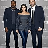 Kim Kardashian, Kanye West, and Riccardo Tisci at the WSJ. Magazine 2019 Innovator Awards