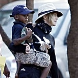 Photos of Madonna and Lourdes in Malawi