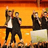 US Nickelodeon stars Big Time Rush thrilled their Australian fans with their performance.