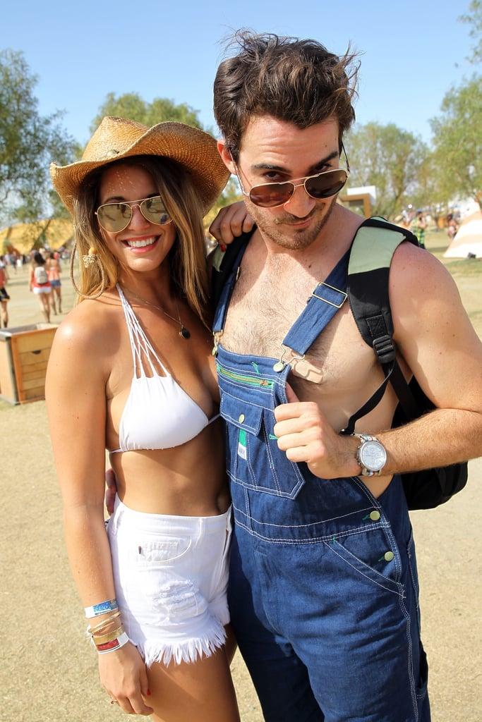 A couple posed together at Stagecoach in 2014.