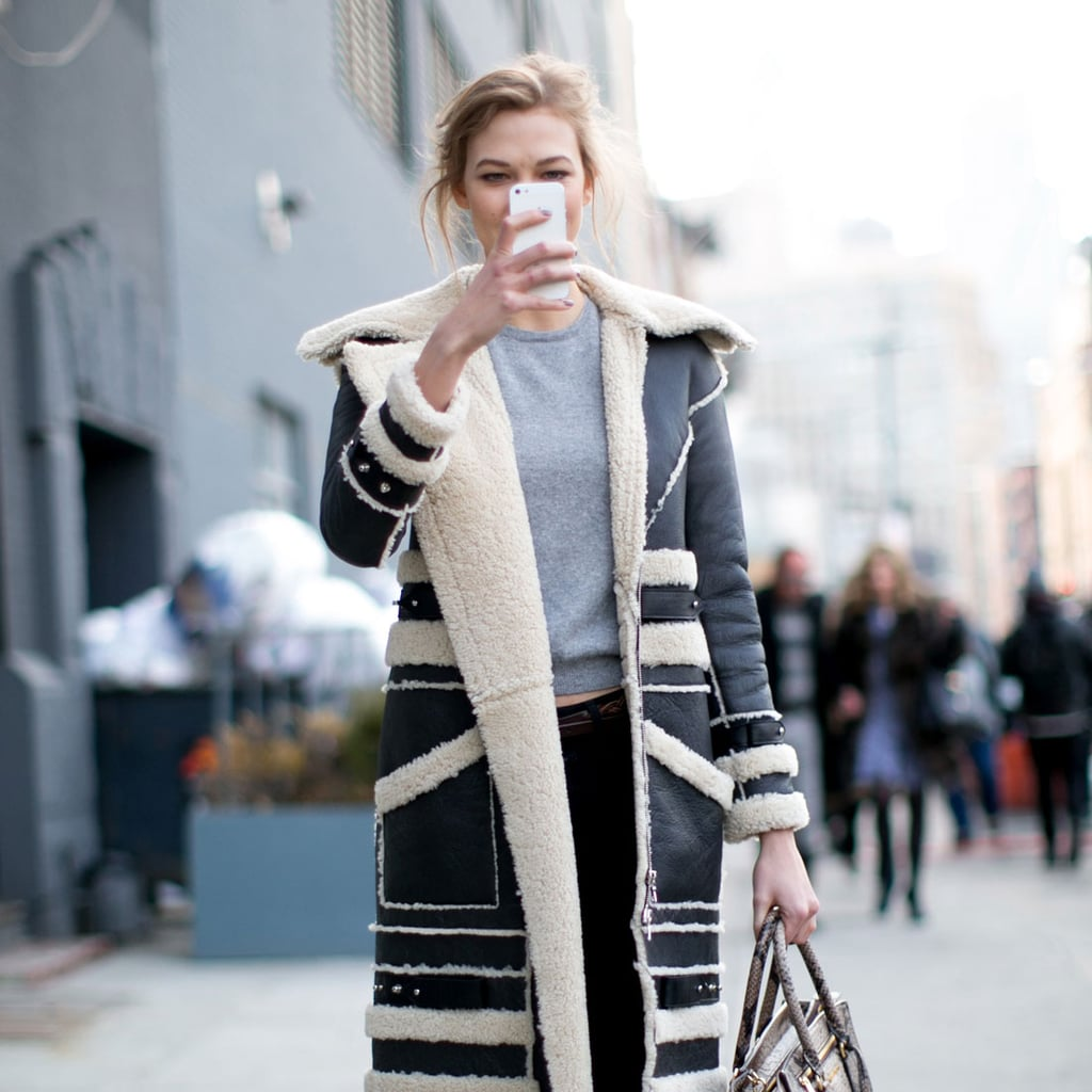 Model street style at new york fashion week fall 2014 for New york models