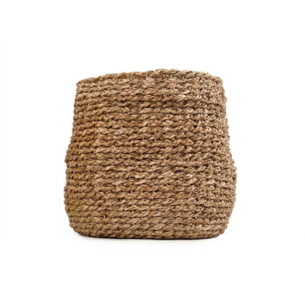 Zentique Concave Hand-Woven Seagrass Medium Basket