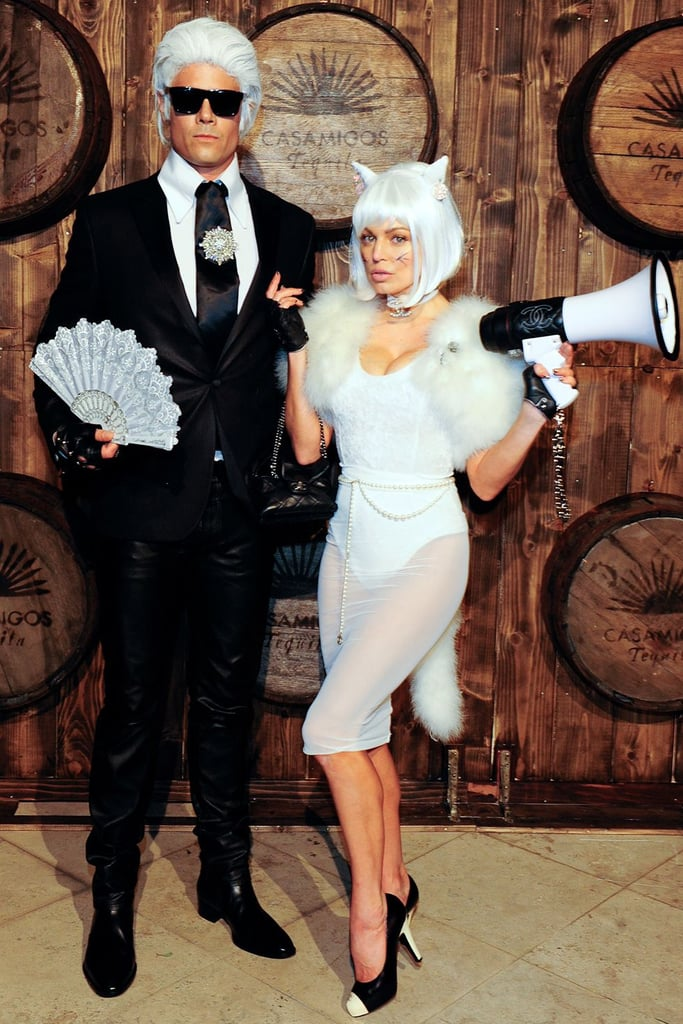Josh Duhamel and Fergie as Karl Lagerfeld and His Cat Choupette