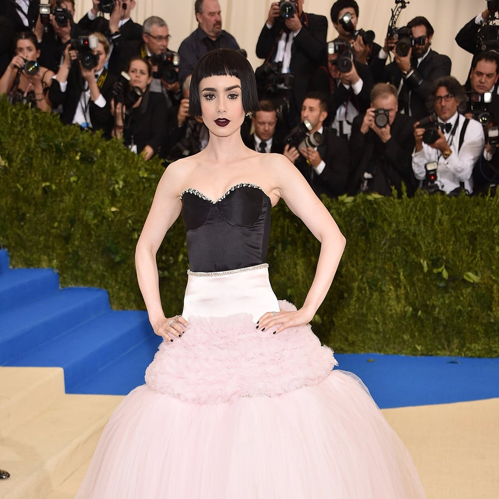 Lily Collins Giambattista Valli Dress for Met Gala 2017