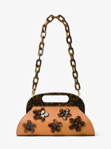 Hadley Floral-Embellished Leather Bermuda Bag ($1,290)