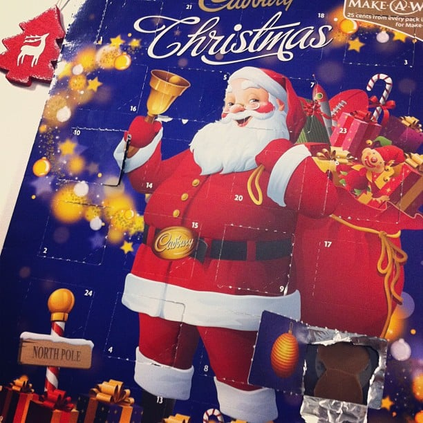 More than halfway through the advent calendar! Santa's coming. . .
