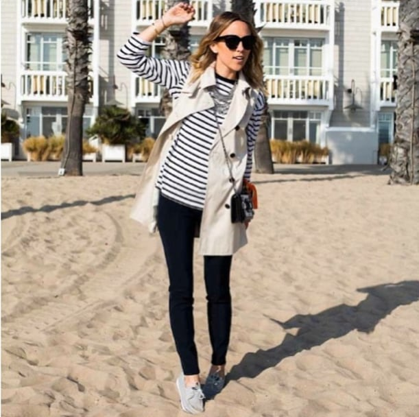 Add preppy appeal with a sleeveless trench and Top-Siders — perfect for the beach and beyond.  Source: Instagram user damselindior