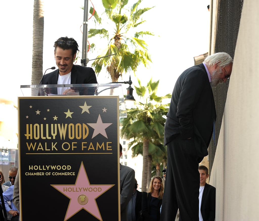 """Donald Sutherland unveiled his star on the Hollywood Walk of Fame yesterday, and his costar in Horrible Bosses was on hand to introduce him. Colin seemed to get everybody laughing during his speech, but he also read out a sweet message from Donald's son Kiefer, who couldn't be there for the occasion — """"I selfishly wanted to be there to simply tell you how proud I am to have you as my father and how even more proud I am to be your son."""" Meanwhile Donald joked that at his age it was better to be receiving that 'stone' rather than a headstone, and became the 2430th star on the streets of LA. Another Colin picked up his own star last week, Colin Firth was proud to unveil his own star."""