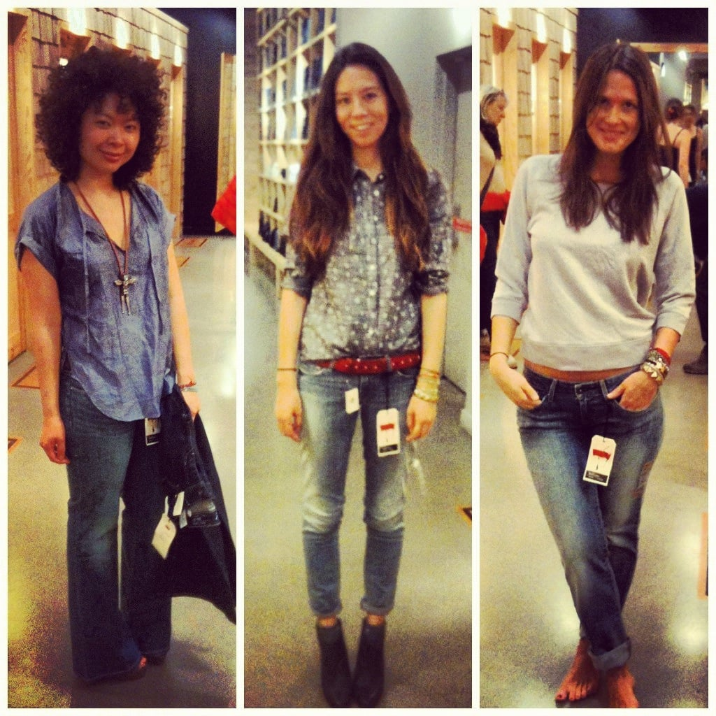 We styled up three takes on Levi's Curve denim ahead of our event back in March.