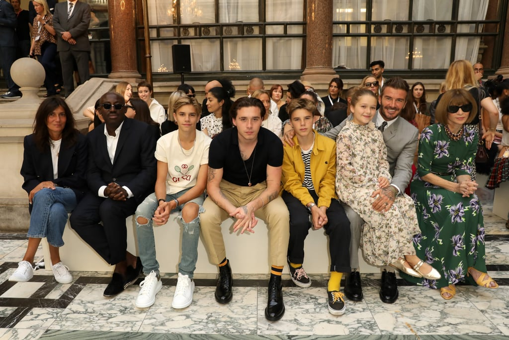 The Beckham Kids Were the Guests of Honor at Victoria Beckham's Fashion Week Show