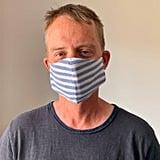 Blue & White Stripe Face Mask